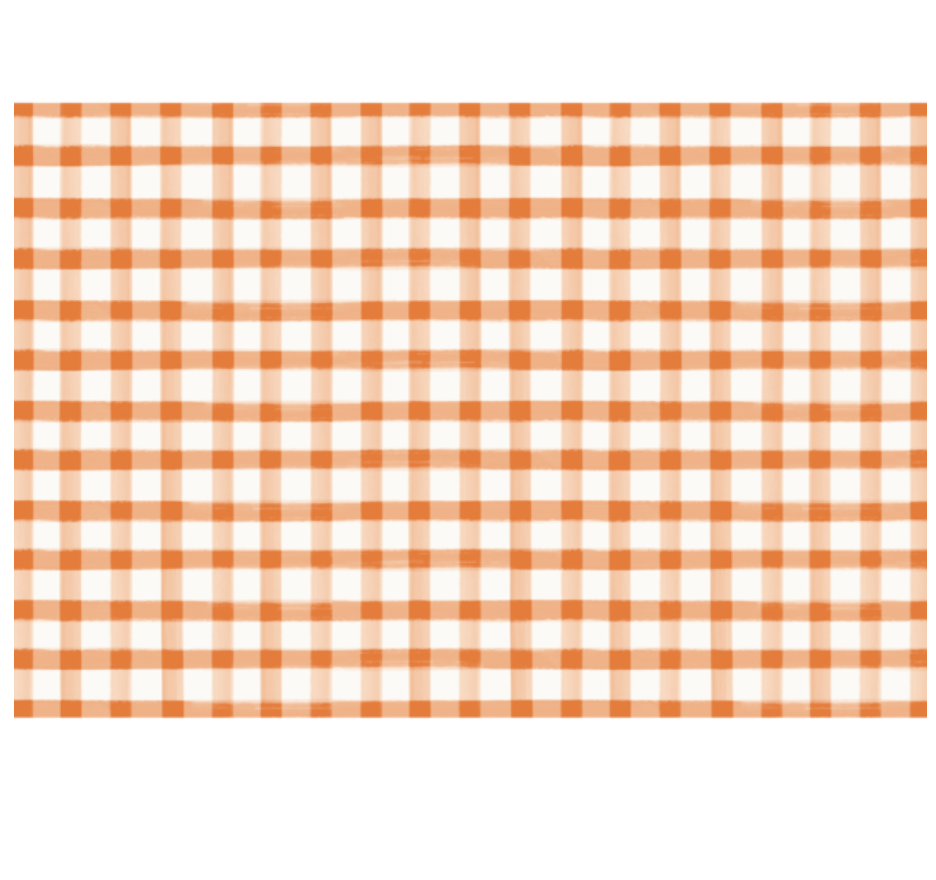 orange check place mats