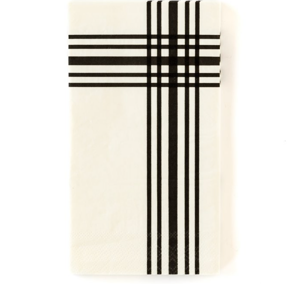 black gingham dinner napkins