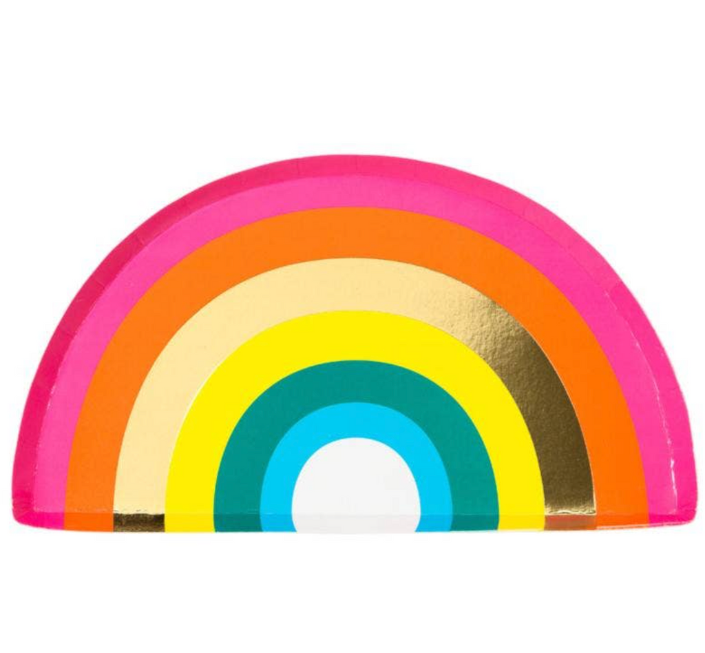 rainbow party plates - paper