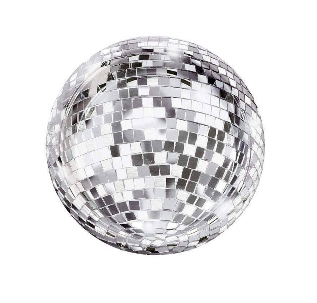 disco ball plates - paper