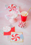 peppermint die cut paper napkins