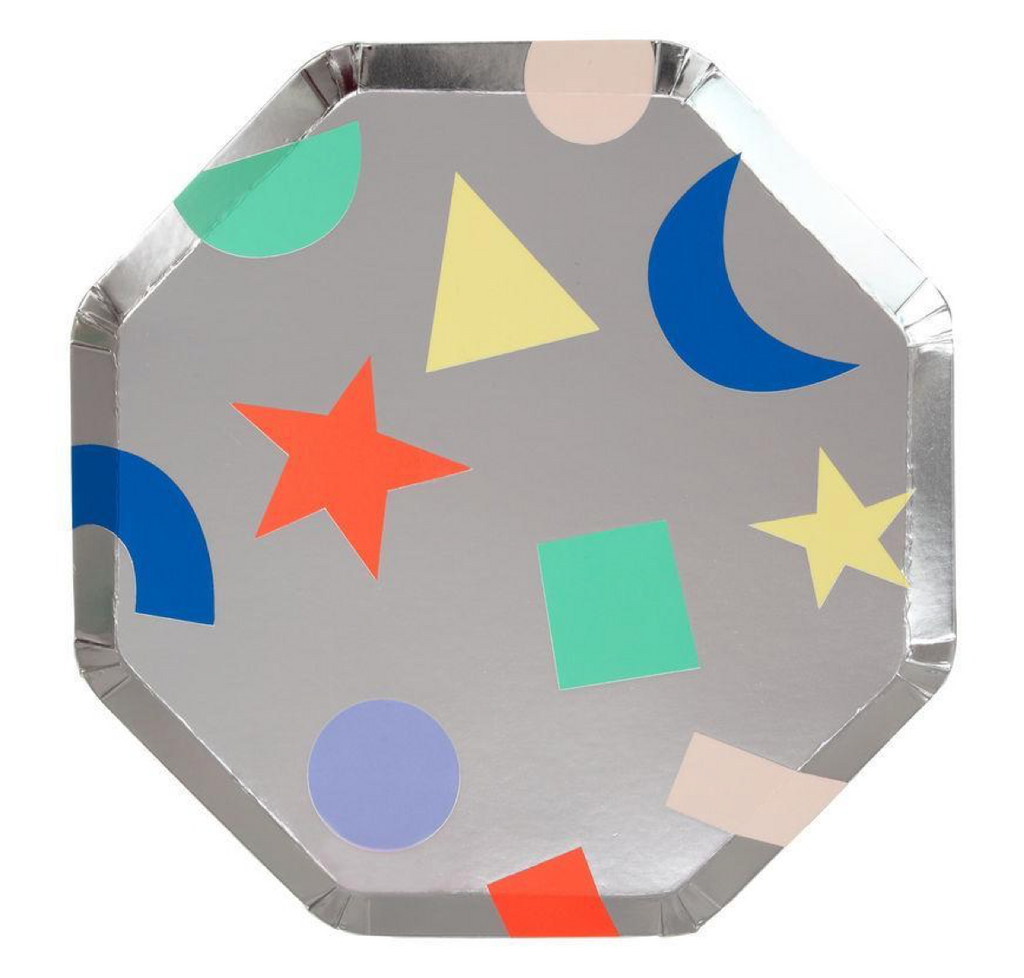 geometric side plates - paper