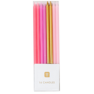 Pinks/gold Candle set