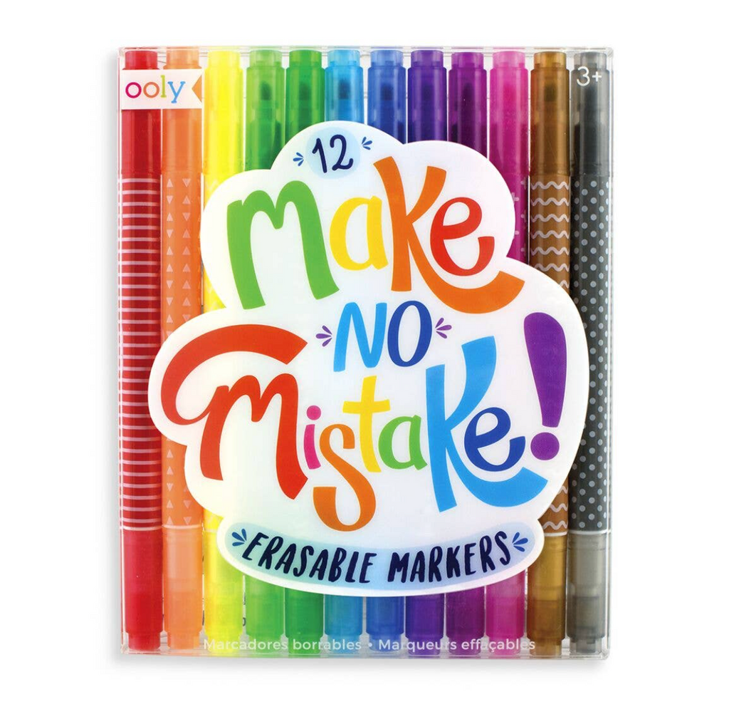 make no mistake - erasable markers