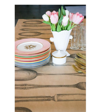 kraft cultery: paper table runner