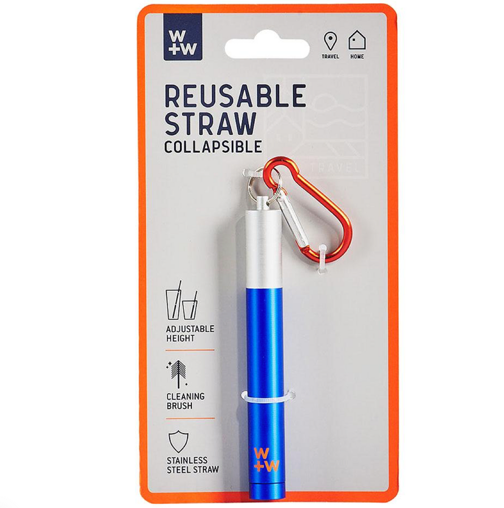 Stainless Steel Collapsible Reusable Straw