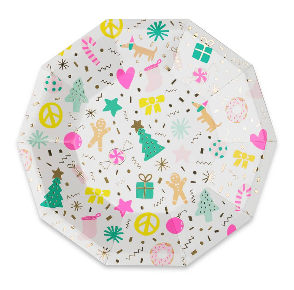 Merry + Bright Small Paper Plates