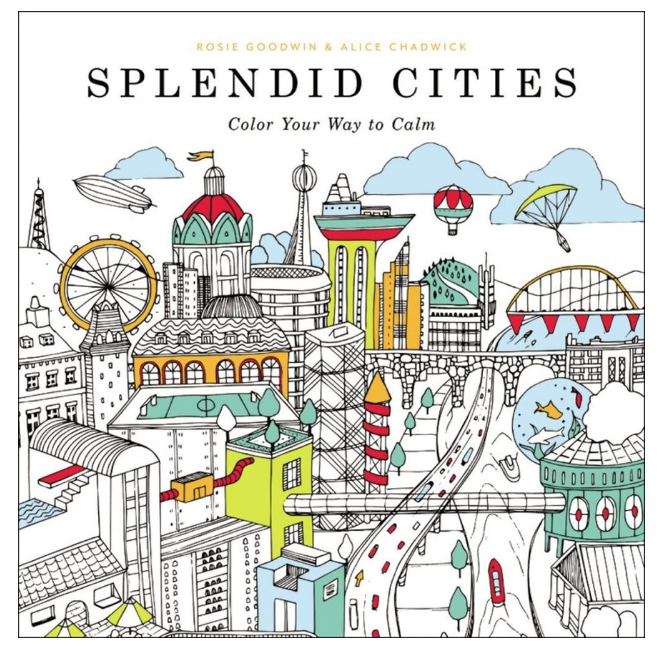 Splendid Cities coloring Book