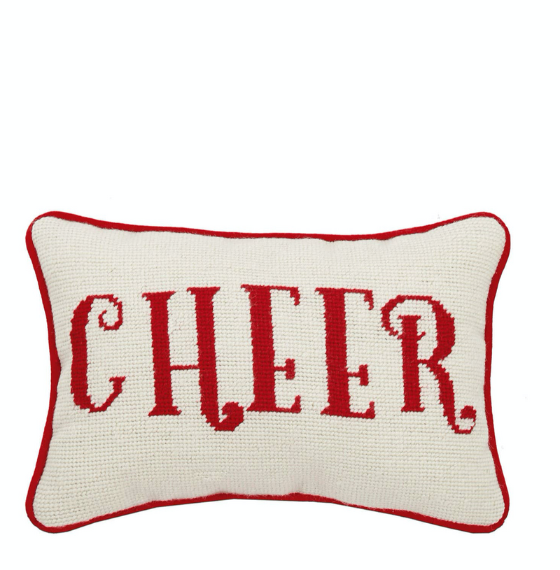 cheer : needlepoint pillow