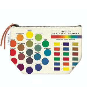 color wheel zip pouch