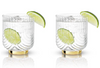 Gatsby Glass Tumblers Gold and Crystal Set of 2
