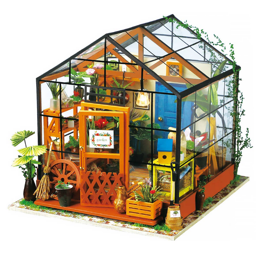Cathy's Flower House DIY Miniature Dollhouse Kit