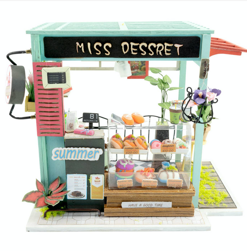 Ice Cream Station DIY Miniature Dollhouse Kit