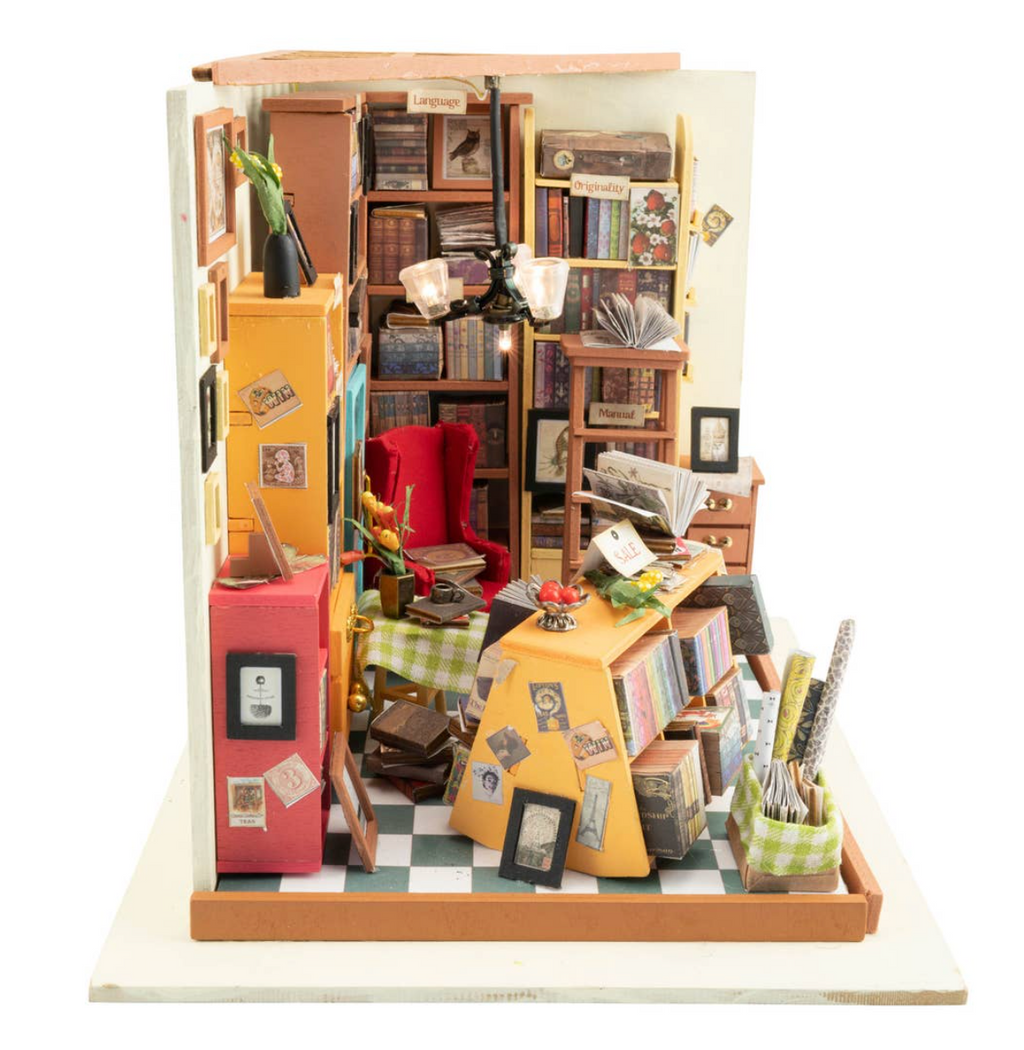 Sam's Study Room DIY Miniature Dollhouse Kit