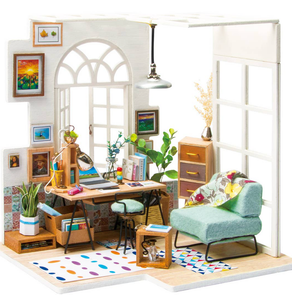 Soho Time, DIY Miniature Dollhouse Kit