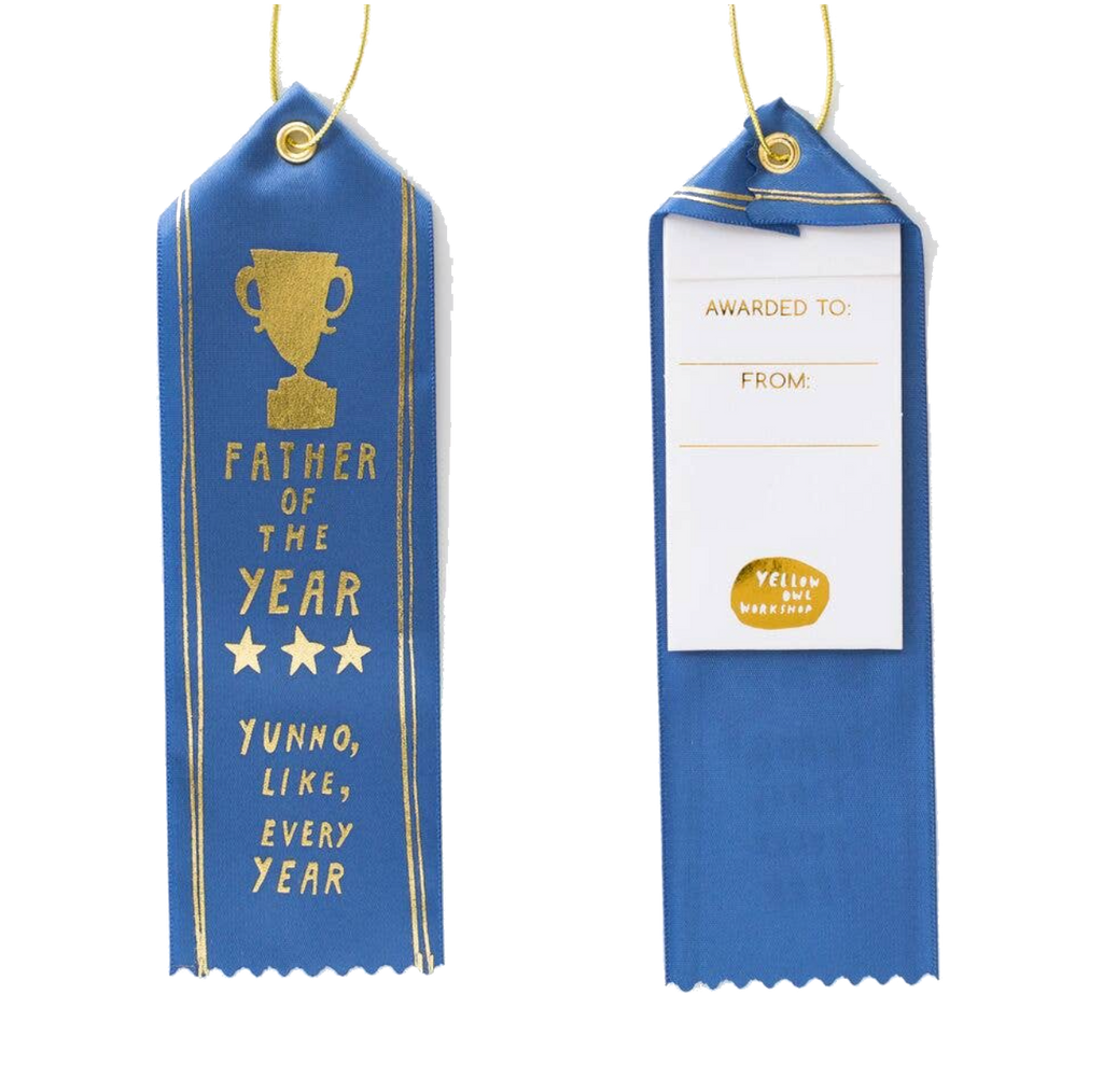 father of the Year - Award Ribbon Card