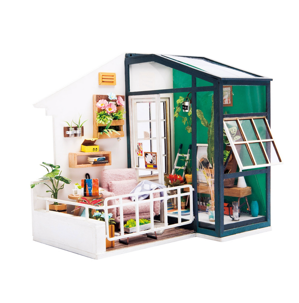 Balcony DIY miniature dollhouse kit