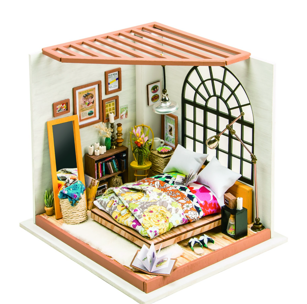 Alice's dreamy bedroom DIY Miniature Dollhouse Kit