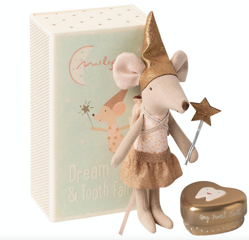 tooth fairy mouse: matchbox Maileg
