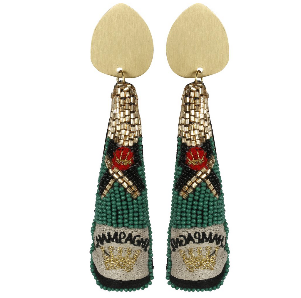 green champagne: earrings