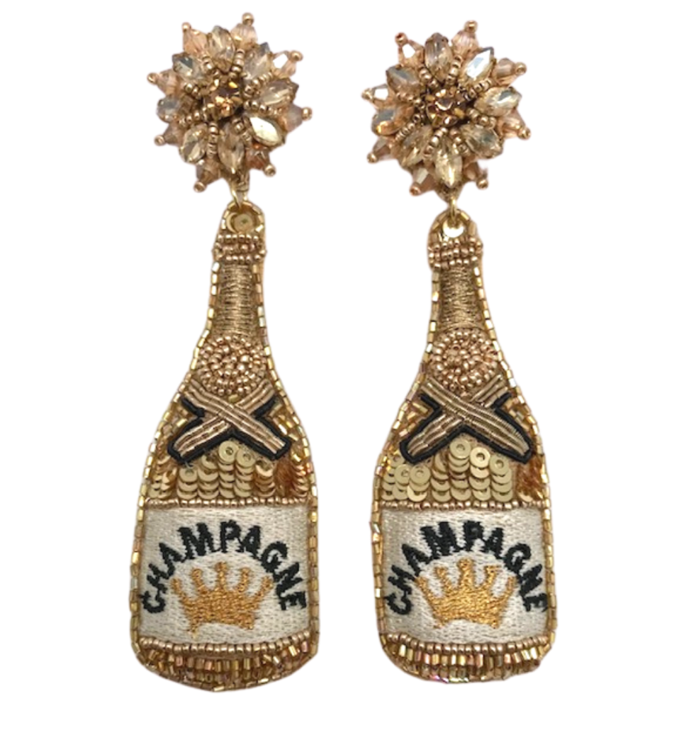 gold champagne: earrings