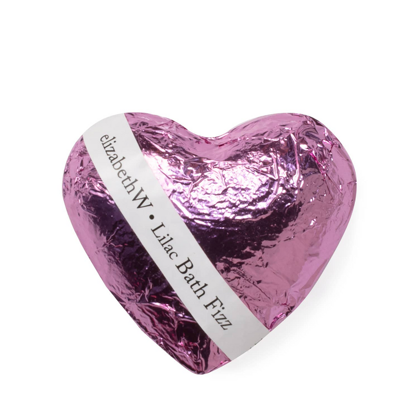 lilac: bath fizz heart