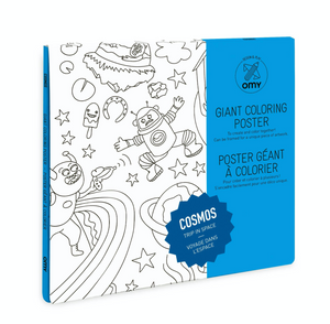 Cosmos scene Folded Coloring Poster