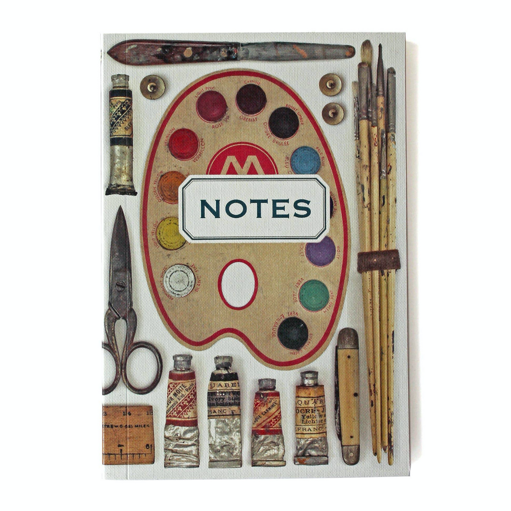 Vintage Art Supplies Notebook