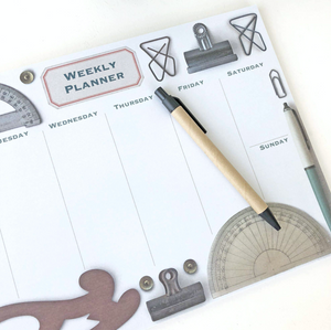 Weekly Planner Vintage Stationery  Notepad