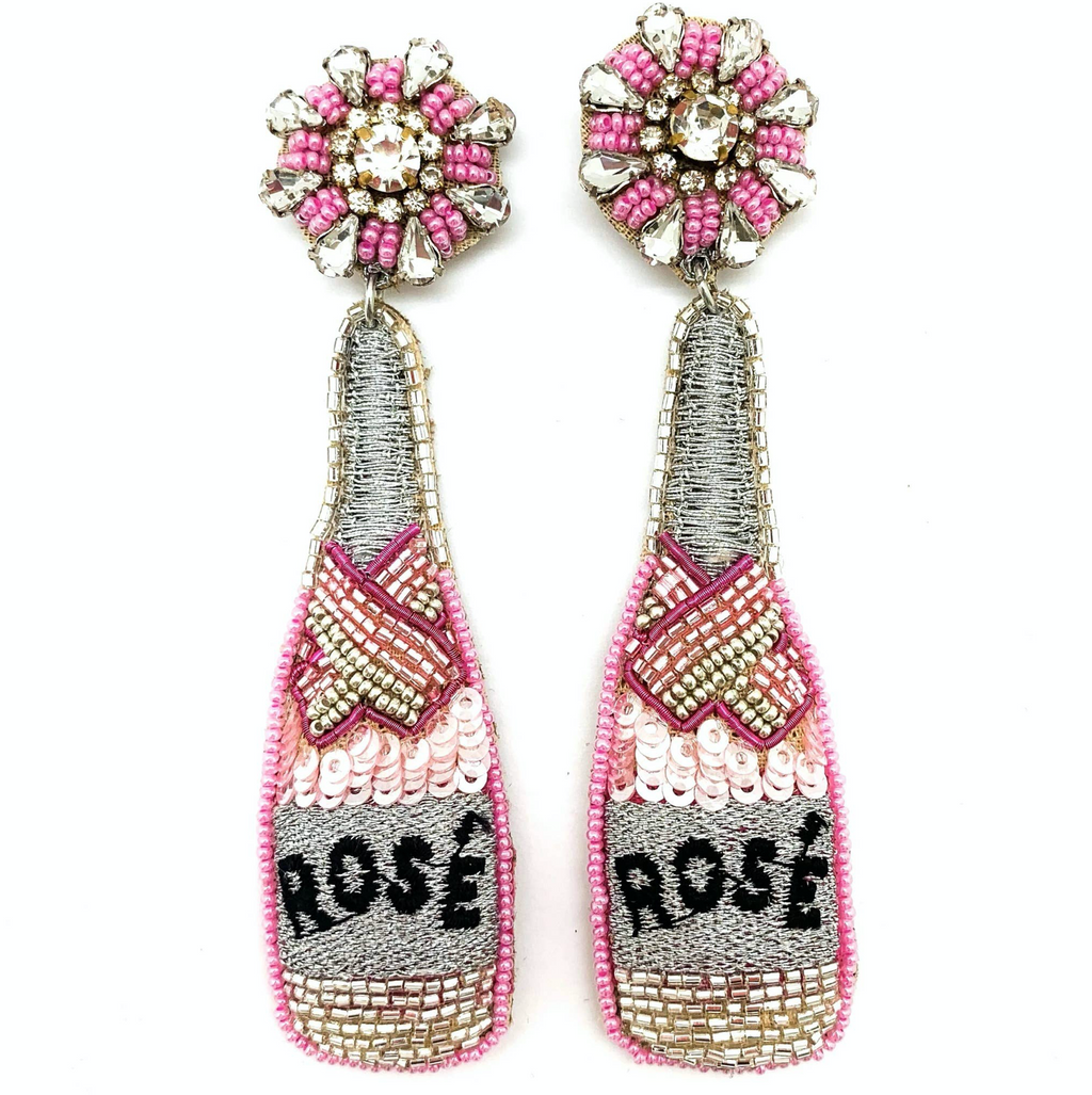 rose : earrings