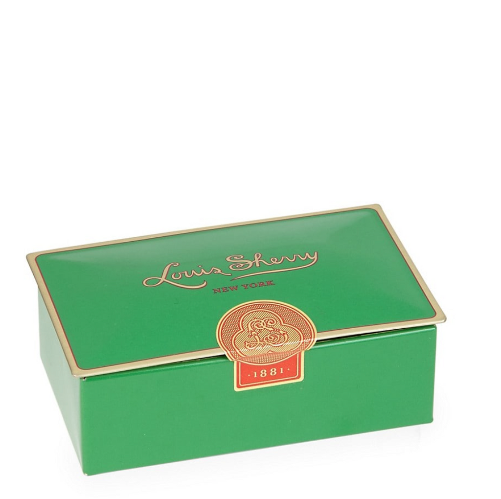 "green: 2 piece  ""jewel box"" Chocolate Truffle Tin"