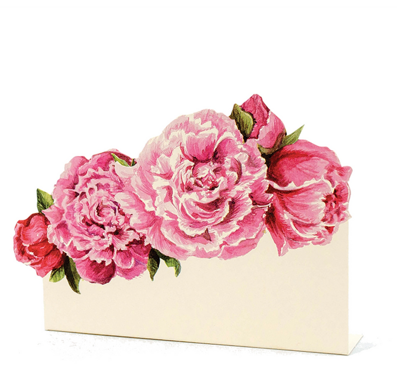 Peony floral: place cards