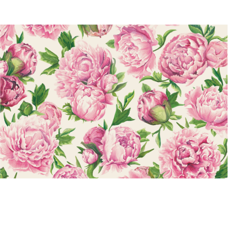 peony bloom: paper placemats