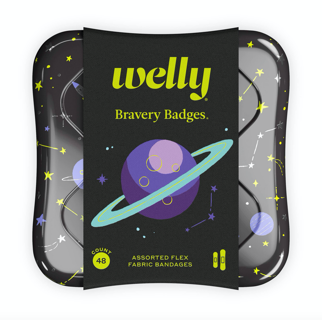 space bravery badge bandages  : welly