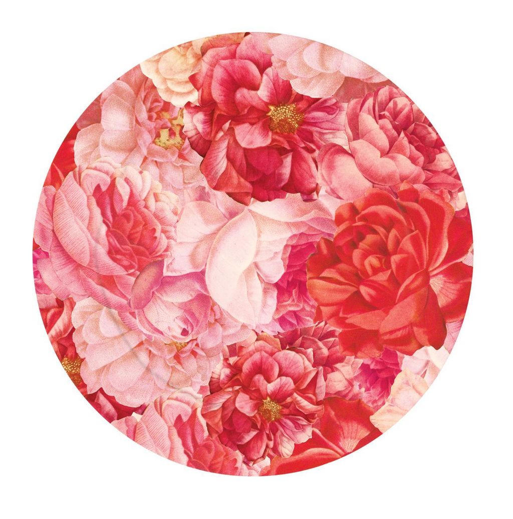 Roses in Bloom Charger Plate - Plastic/Paper