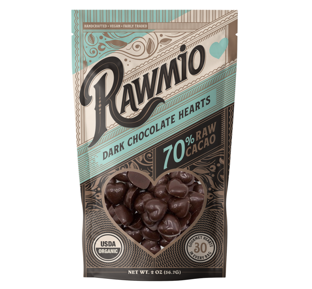 Dark Raw Chocolate Hearts
