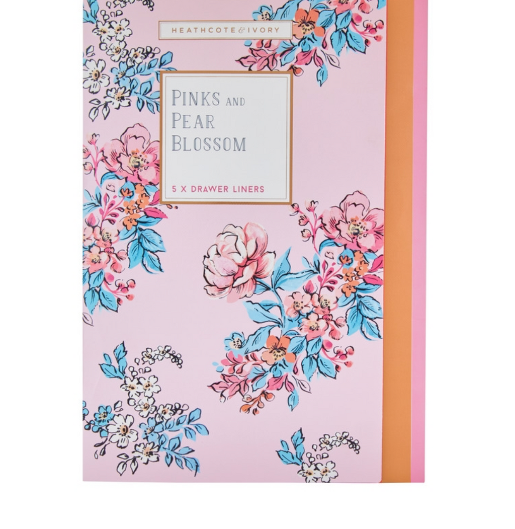 Pinks & Pear Blossom Drawer Liners