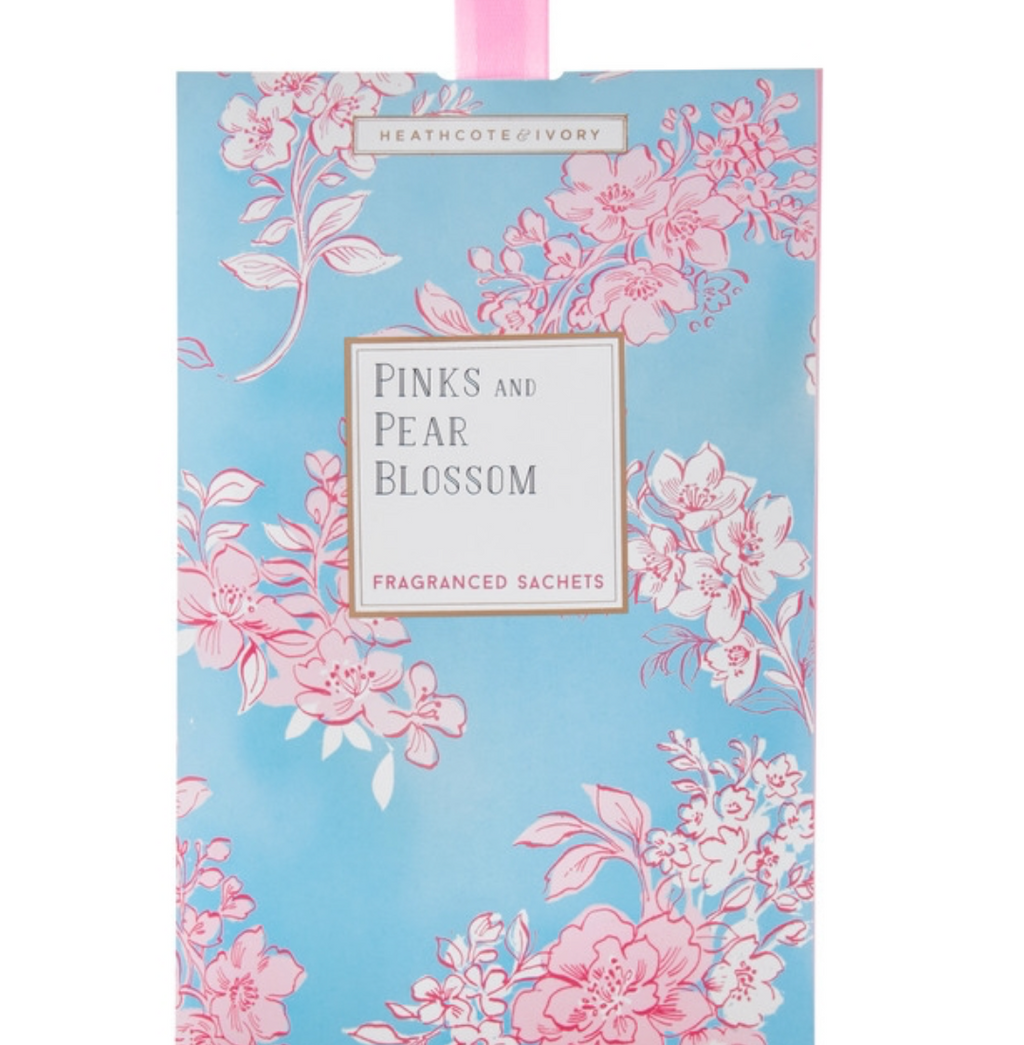 Pinks & Pear Blossom Scented Sachet