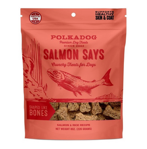 Polkadog Pouch: Salmon Says (Bone Shaped) - 8oz