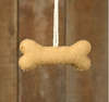 felted dog bone ornament