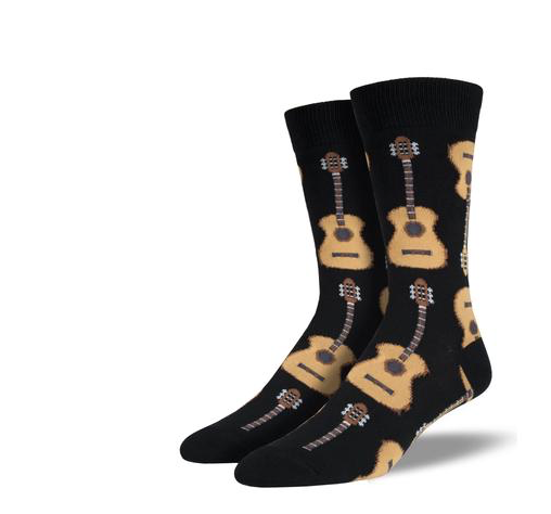 Acoustic Guitar Socks- Black