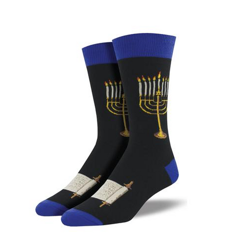 mens sock: menorah
