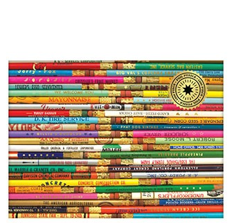 Phat Dog Vintage Pencils 1000 Piece Foil Stamped Puzzle