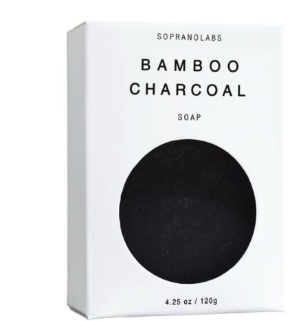 Bamboo Charcoal Vegan Soap:  SOPRANOLABS