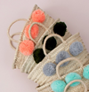 mini BLACK pom pom basket