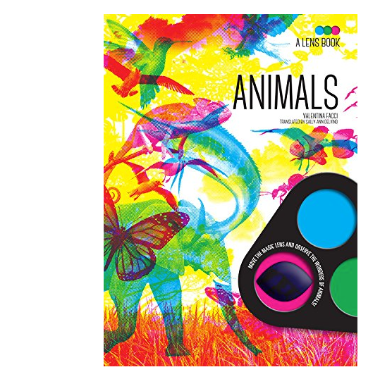 Animals:  book w color lens