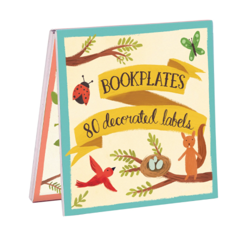 bookplate stickers: animal friends