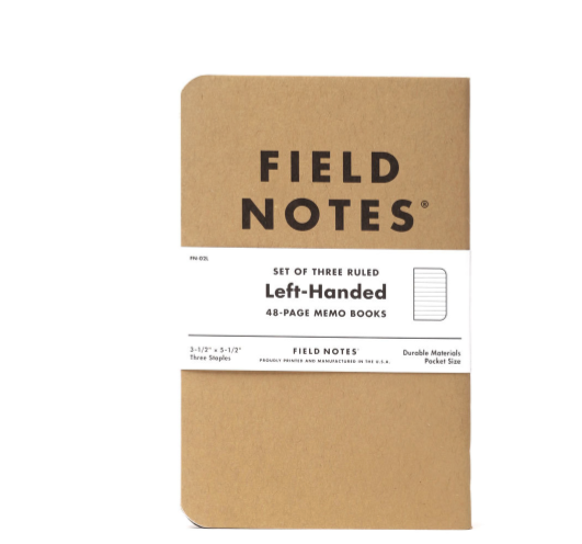FIELD NOTES: left handed memo set (3)