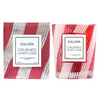 CRUSHED CANDY CANE CLASSIC CANDLE IN TEXTURED GLASS