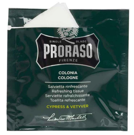 PRORASO Cologne Towelettes-Cypress & Vetyver